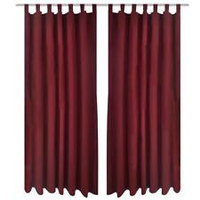2x Microsatin Vorhang Gardine blickdicht Kräuselband Schlaufenschal Dekoschal