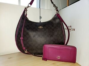 "Coach Harley Hobo  In Signature 38300, ""Wallet selling separate """