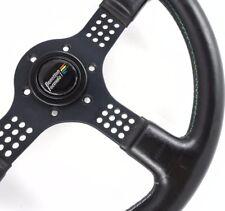 RARE Genuine Momo Team Benetton Formula 1 350mm black leather steering wheel  7D