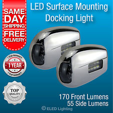 LED Docking Light Boat Berthing Lights Per Pair 12 volt LED Bow Lights