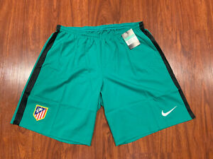 2015-16 Nike Mens Atletico Madrid Green Player Issue Soccer Jersey Shorts XL