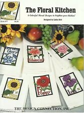 The Floral Kitchen Linda Bird Design Connection #77 Cross Stitch Patterns NEW