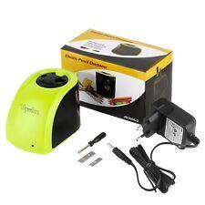 Elektrischer Anspitzer Bleistiftspitzer Batterie Strom Spitzmaschine 2 Löcher