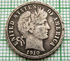 UNITED STATES 1910 S BARBER DIME - 10 CENTS, SAN FRANCISCO MINT, SILVER