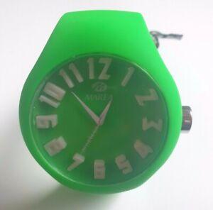 MAREA Armbanduhr NINETEEN Silikon grün mit weißen Zahlen 3D optik