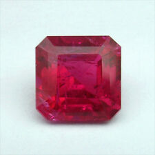 2.16 Carats NATURAL PIGEON BLOOD RED RUBY SQUARE EMERALD LOOSE GEM Free Shipping