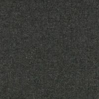 Abraham Moon Deepdale Charcoal Grey 100% Pure New Wool Herringbone Fabric
