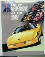 1986 Chevy Corvette Indy 500 Pace Car Dealer Brochure Poster Campaign Info