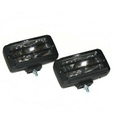 Universal Rectangular Pair Fog Halogen Spot Lamps Lights Car 4x4 Offroad Grille