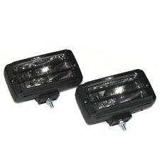 Universal Pair White Fog Spot Lights Grille Halogen Lamps Car Van 4x4 E-Marked