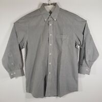 Brooks Brothers Mens Button Down Dress Shirt Pin Striped 100% Cotton Sz 16/32-33