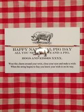 Happy National Pig Day Hogs And Kisses Handmade Wish Charm Bracelet Unique Gift