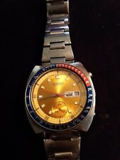 """Seiko 6139-6005 """"Pogue"""" Style Watch.. Runs well,some issues."""