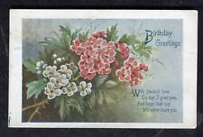 Posted c1920s Illustrated Birthday Card - Flowers: With Fondest Love