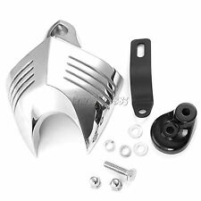 Chrome V-shield Horn Cover For Harley Softail Dyna Glide Big Twin Electra 92-12