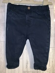 Boys Age 6-9 Months - Next 2018 Navy Trousers