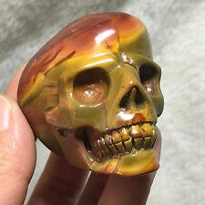 Ocean jasper Beautiful Natural Carving ART Skull  Realistic Healing 135g G120521