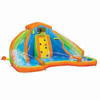 Banzai 90369 Adventure Club Water Park Inflatable 2 Lane Water Slide Splash Pool