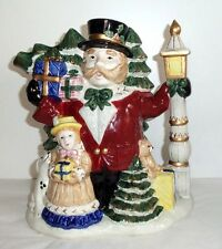 Fitz and Floyd Omnibus Christmas Victorian Carolers 2 1/2 Qt Holiday Pitcher