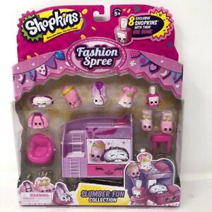 Shopkins Fashion Spree Slumber Fun Playset Collection New