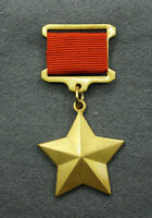 WW2 Russian Army Medal Gold Star Hero of the Soviet Union Military Badge Pinback