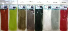 8 FOXY HAIR SYNTHETIC WAVY EP FIBERS fly tying streamer materials Lot of 8 color