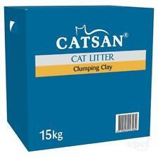 NEW Catsan Natural Odour Control Moist Absorbent Clumping Clay Cat Litter 15kg