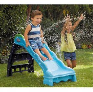 2-in-1 Outdoor Slide/Water Splash Slide