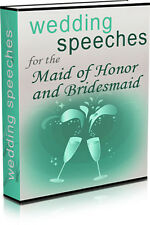 WEDDING SPEECHES For The Maid of Honor & Bridesmaid - 10 Ready Made Speeches (CD
