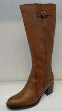 Ladies Clarks Tan Leather Knee High Zip Up Boots : Mascarpone Ela