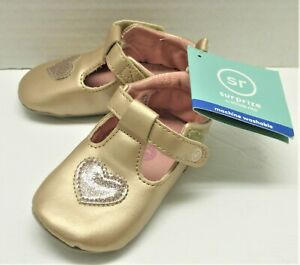 Baby Girls' Surprize by Stride Rite Soft Sole Mini Shoes - Rose Gold 12-18M