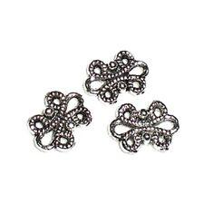 10 Perles connecteur Entre-deux _ Flot noeud 12x9mm _ Apprêts créa bijoux A034 g