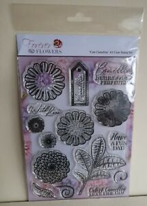 Forever Flowers Cute Camellias A5 Clear Stamp Set