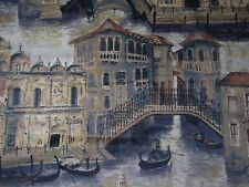 "ZOFFANY CURTAIN/UPHOLSTERY FABRIC ""Gondolier"" 1 METRE TWILIGHT VELVET (100 CM)"