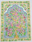 Vintage Hand Made Traditional Kashmiri Tree of Life Multicolor Wool Rug 84x61cm