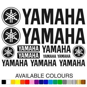 Yamaha Motorcycle Vinyl Decals Tank Fairing Helmet Stickers Set