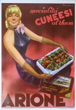 ARIONE ITALIAN CHOCOLATES POSTER C1950 CUNEESI WITH RUM BY CARLO PRANDONI