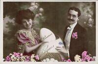 Coppia - Uovo di Pasqua - Cartolina Liberty-Art Nouveau - VIAGGIATA - Rif. 227 T
