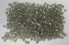 15g Grey Rainbow Faceted 4mm Acrylic Beads For Craft, Beading & Jewellery RF305