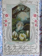 Frau Seerosen Nacht Gemälde Kunstwerk Postkarte Ansichtskarte 3046