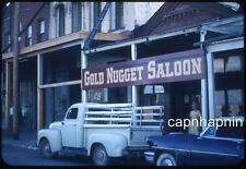 Ford Pickup Truck At GOLDEN NUGGET Saloon VIRGINIA CITY NV Vtg 1954 Slide Photo