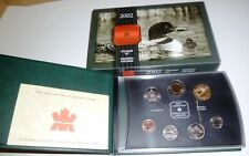 2002 SPECIMEN SET - ROYAL CANADIAN 7-COIN SET - SPECIAL FAMILY OF LOONS DOLLAR