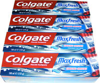 4 TUBES OF COLGATE TOOTHPASTE - MAX FRESH GREEN MINT GEL TOOTH PASTE 100ML