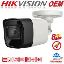 HIKVISION 8MP OEM Camera TurboHD TVI 8 MEGAPIXEL 4K Bullet  Fix Lens IR 30M IP67