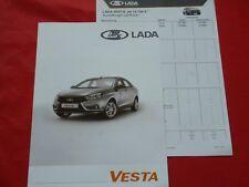 LADA Vesta Basis + Luxus Prospekt + Preisliste von 2017