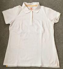 Patagonia Pique White Polo Shirt Organic Cotton Blend - Women's Size Medium