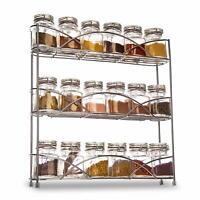 3 Tier Spice Rack Herb Jar Organiser Shelf Free Standing Kitchen Storage Stand