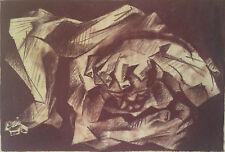 """""""LE POIDS DU MONDE""""sanguine sur papier-SERGE VILLARD-85/art brut/garouste/combas"""