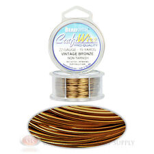 15 Yds Vintage Bronze 22GA Round Craft Wire Jewelry Beading Wrapping Jump Rings