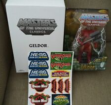 HE-MAN MASTERS OF THE UNIVERSE CLASSICS GELDOR W/ WHITE BOX STICKERS *NU*